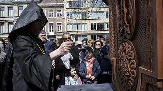 Belçika'da Ermeni anıtı açıldı