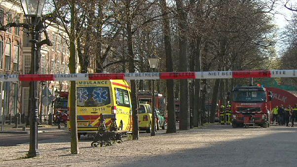 Incendie criminel à l'ambassade de Grande-Bretagne à La Haye