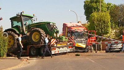 France : collision entre un camion et un train