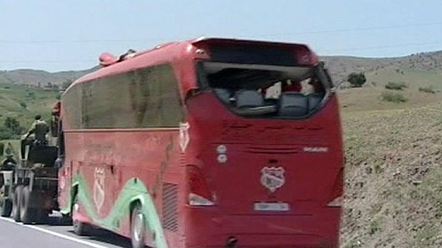 Fas'ta futbol takımını taşıyan otobüs kaza yaptı