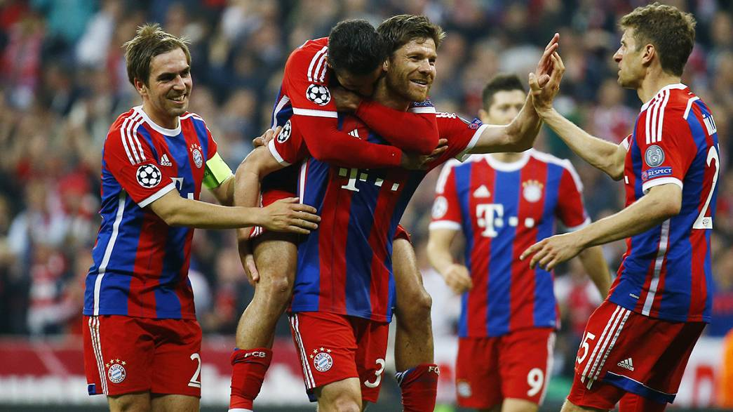 Bayern München und der FC Barcelona im Halbfinale der Championsleague