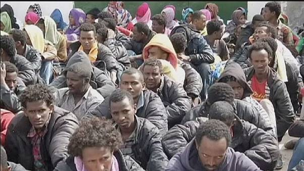 Libya detains 600 migrants as Europe struggles with tragedies
