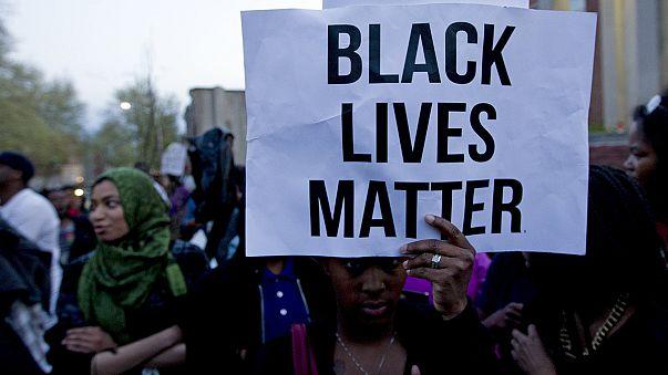Baltimore'da polis şiddetine karşı protesto eylemi