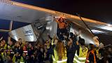 Solar-powered plane lands in eastern China, prepares to cross Pacific