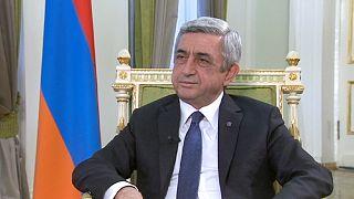 """Serzh Sargsyan: """"o reconhecimento do genocídio, por parte dos turcos, é o caminho mais curto para a reconciliação das nossas nações"""""""