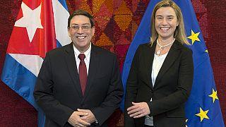 دیدار وزیر خارجه کوبا با فدریکا موگرینی