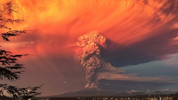 فوران آتشفشان در جنوب شیلی