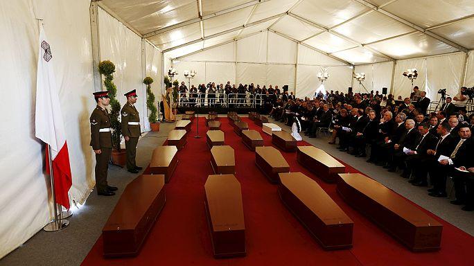 Drame de l'immigration : cérémonie funéraire à Malte