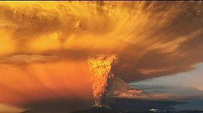 Der Vulkan Calbuco in Chile bricht aus