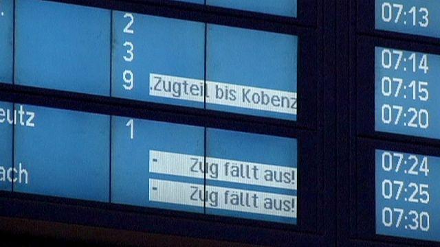 Vasutassztrájk Németországban