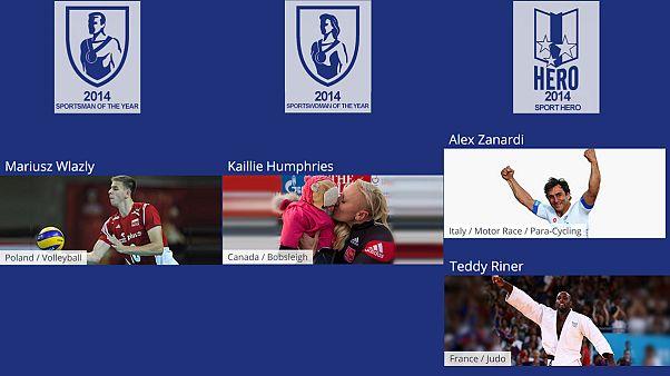 Mariusz Wlazly, Kaillie Humphries, Alex Zanardi e Teddy Riner vencem prémios Sportaccord euronews