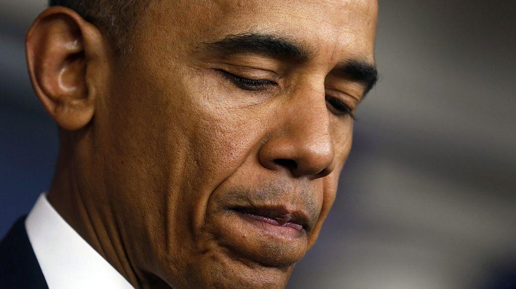 Obama Amerikan İHA'larına hedef olan rehinelerin yakınlarıyla konuştu