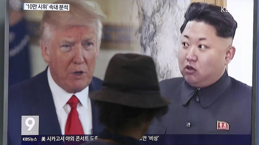 Image: Donald Trump. Kim Jong Un