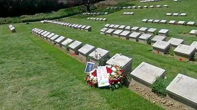 Gedenken an die Schlacht von Gallipoli: Nachfahren der Kriegsteilnehmer reichen sich die Hand