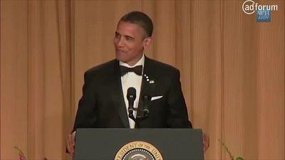 Obama tells racist joke! (German Stuttering Association)