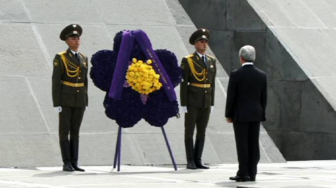 Solemn ceremony in Armenia to mark 100th anniversary of massacres by Ottoman Turks