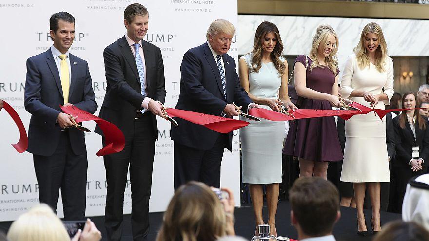 Image: Donald Trump, Donald Trump Jr., Eric Trump, Melania Trump, Tiffany T