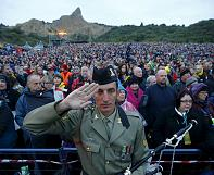 Dawn service at Gallipoli to mark ANZAC centenary