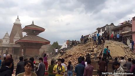 Many people killed and injured in powerful quake in Nepal