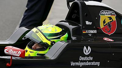 Following in his father's footsteps: Mick Schumacher shines in debut F4 race
