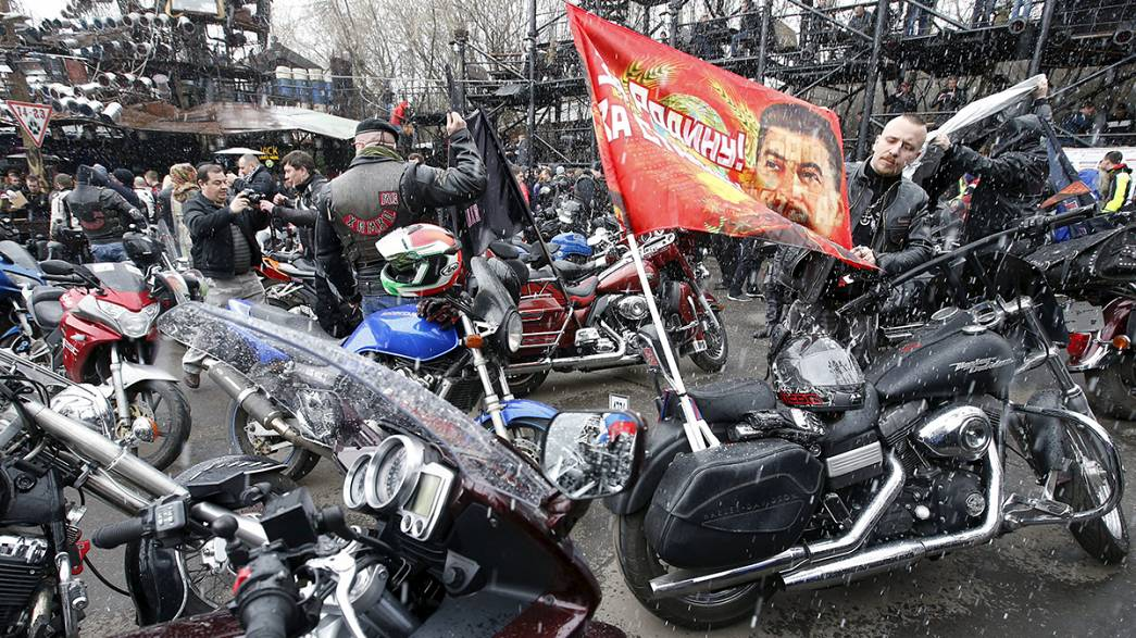 """Russianpro-Putin bikers set off on controversial """"Victory Ride"""" to Berlin"""