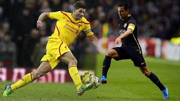 Steven Gerrard and Xavi Hernandez hit the 500-match milestone