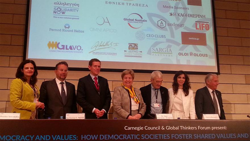Global Thinkers στην Αθήνα: «Δημοκρατία, αξίες και υπεύθυνη ηγεσία»