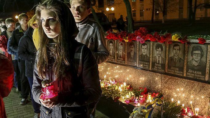 A csernobili atomkatasztrófára emlékeztek