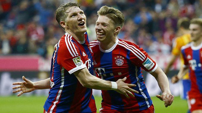 A Bayern München hete: gólzápor a BL-ben, címvédés a Bundesligában