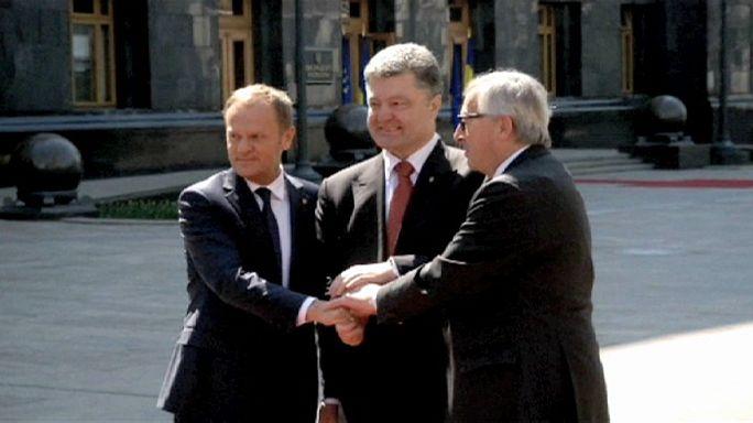 قمة اوروبية اوكرانية في كييف هي الاولى منذ حزيران يونيو من العام الماضي 2014