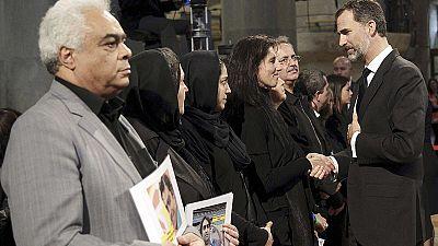 برگزاری مراسم یادبود قربانیان هواپیمای جرمن وینگز در بارسلون