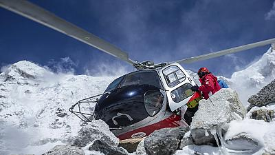 Base camp flattened after Everest avalanche