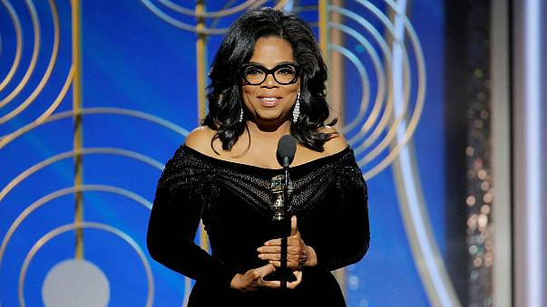 Oprah Winfrey speaks after accepting the Cecil B. Demille Award at the 75th Golden Globe Awards in Beverly Hills, California, on Jan. 7, 2018.