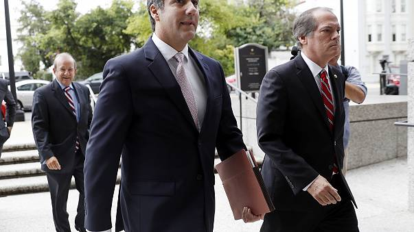 Michael Cohen, left, a personal attorney for President Donald Trump, in Washington in September.