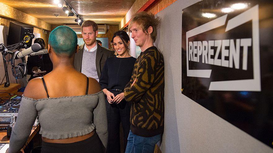 Image: Prince Harry and Meghan Markle Visit Reprezent
