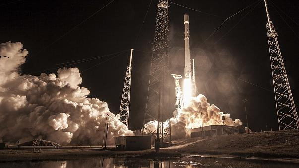 Image: The launch of the Falcon 9 rocket at Cape Canaveral