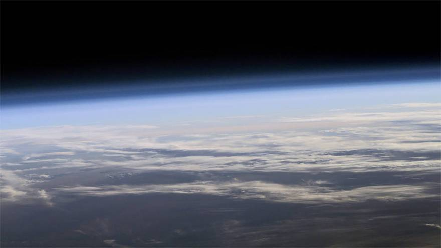 Image: A View of Earth's Atmosphere From Space
