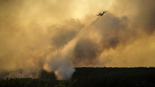Ukrayna'da orman yangını nükleer santrale doğru ilerliyor