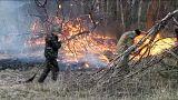 السيطرة على الحريق الهائل الذي اندلع بالقرب من مفاعل تشيرنوبيل