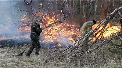 Ucrânia: Controlado o fogo florestal em Chernobyl