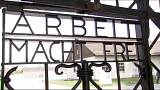 Replica of Nazi camp gate installed at Dachau