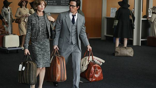 """Image: Michelle Williams and Mark Wahlberg in a still from """"All The Money I"""