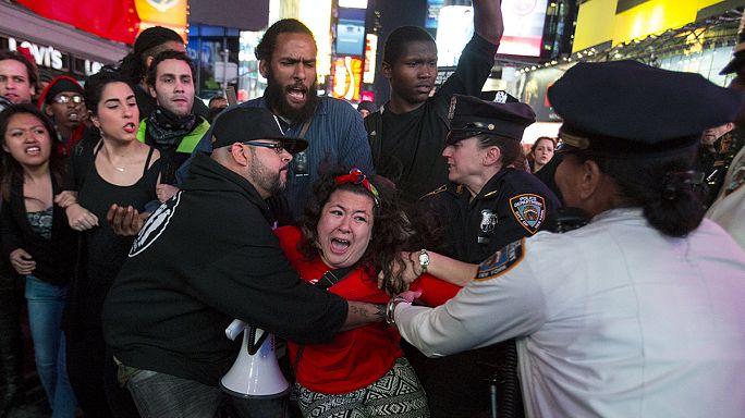 Manifestações em Baltimore e Nova Irque contra a brutalidade polícial