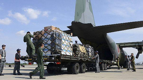 Internationale Helfer erreichen langsam abgelegene Bergregionen