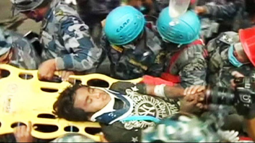 """Nepal earthquake: """"miracle"""" rescue after five days"""