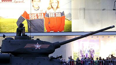 Russland: Proben für Militärparade am Tag des Sieges