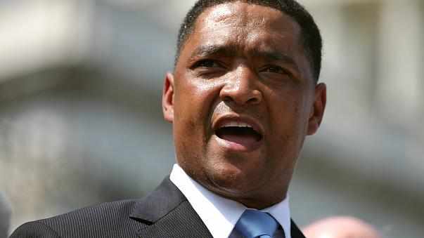 Rep. Cedric Richmond (D-LA) addresses a rally with fellow House Democrats on the steps of the U.S. Capitol  September 14, 2011 in Washington.
