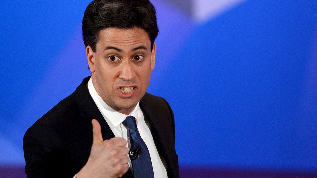 Último cara a cara televisado de Cameron y Milliband antes de las elecciones