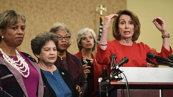 Image: Pelosi speaks on Capitol Hill about the funding for the reauthorizat