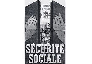Affiche en faveur de la création de la Sécurité sociale, 1945